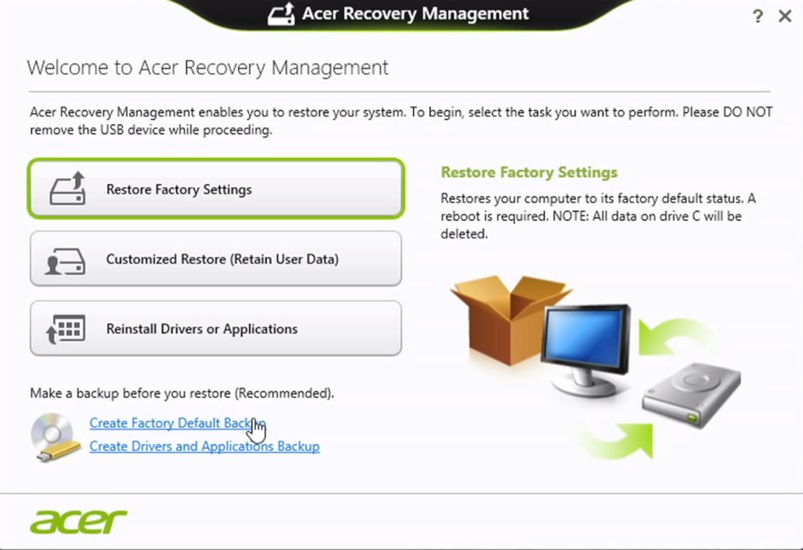 acer-erecovery-management